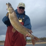 Fishing Pike on Gods Lake